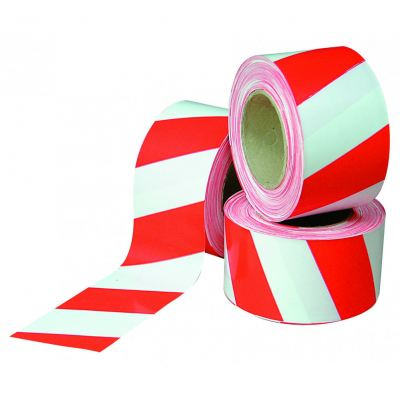 Barricade Tape, Red/ White