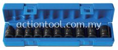 "10 Piece 1/2"" dr., 6-Point Impact Socket Set (Item No.605201001) Socket Set ACTION Impact and Dual Socket"