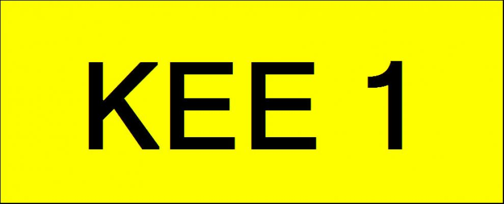 Number Plate KEE1