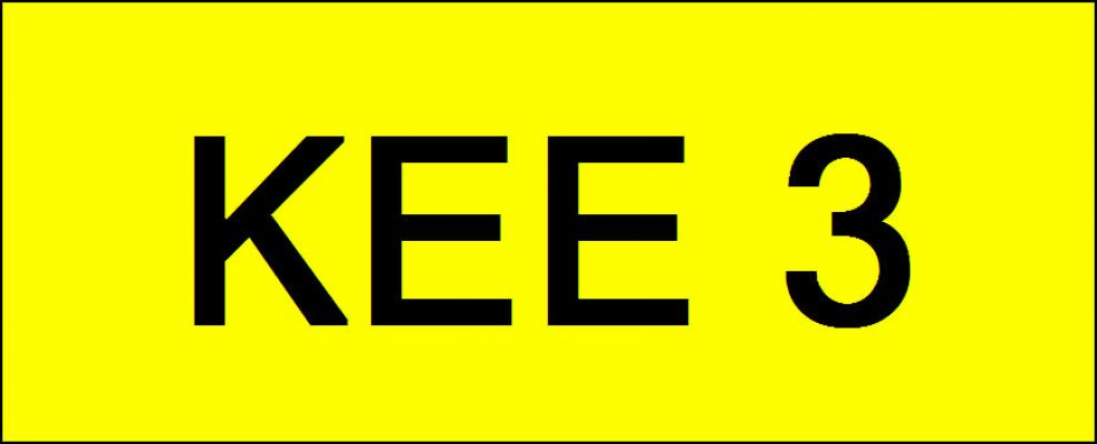 Number Plate KEE3