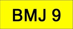 BMJ9 VVIP Plate