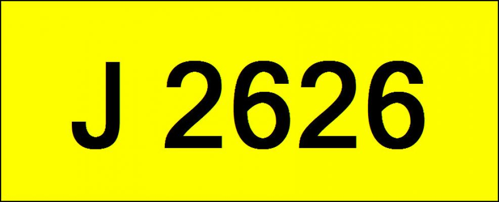 Number Plate J2626