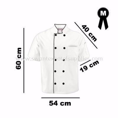 Short Sleeve Chef Jacket-White Color