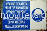 safety signboard for  cash n carry best price size 2x3ft 4 pices Only Second hand signboard / Budget Signage or Trade -in old signboard
