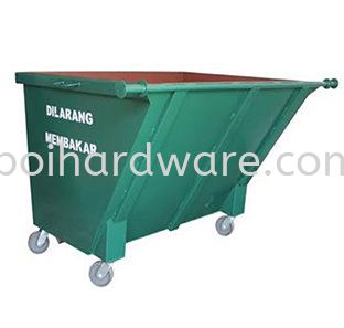 Metal Leach Bin - 1500 liter Rubbish Pail Hygiene and Cleaning Tools