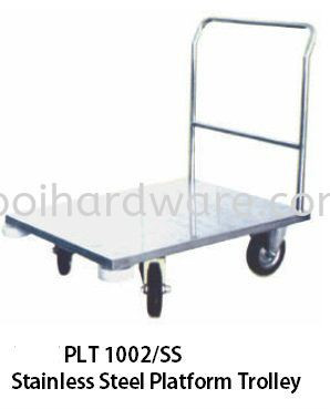 1022SS# Stainless Steel Paltform Trolley  80L x 60W x 86H  cm Trolley Hygiene and Cleaning Tools