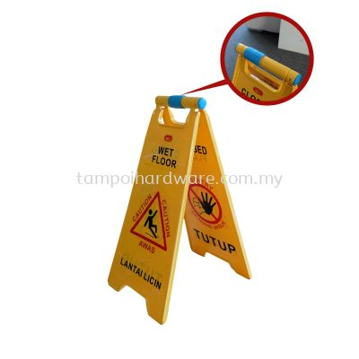 Dou Caution Floor Sign Clip to Lock Support