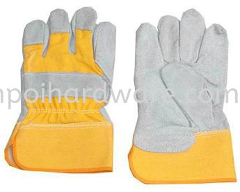 Yellow Jean Heavy Duty SemiLeather Glove Hand Protections Personal Protective Equipments