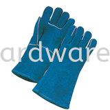 "13"" Green Full Leather Glove Hand Protections Personal Protective Equipments"