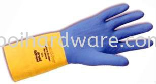 Twin Colour Nitrile Rubber Glove Hand Protections Personal Protective Equipments