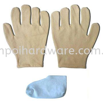 Thick Cloth White Lady Gloves Hand Protections Personal Protective Equipments