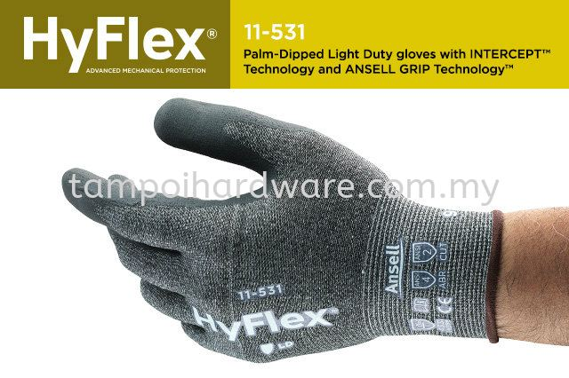 Ansell HyFlex Intercept 11-531  Hand Protections Personal Protective Equipments