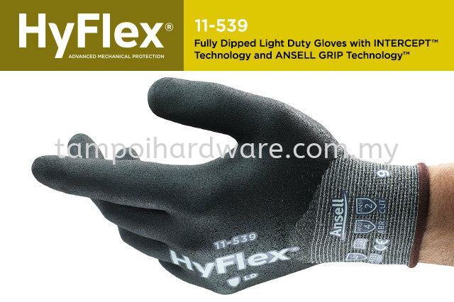 Ansell HyFlex Intercept 11-539  Hand Protections Personal Protective Equipments