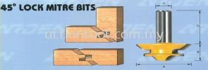 45 Degree Lock Mitre Bits (603) Jointer and Boring Bits ARDEN Router Bits and Shaper Cutters
