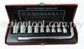 "Great 1/2"" Dr. Socket Set Wrench 10pcs 8-24mm Hand Tools GREAT Professional Tools"