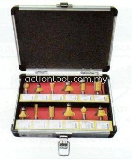 GLITZ Router Bit 12pcs Set