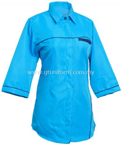 READY MADE UNIFORM F0109 (T.Blue & Black)
