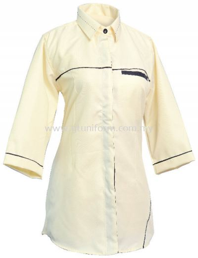 READY MADE UNIFORM F0113 (Beige & Black)