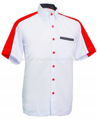 READY MADE UNIFORM M0201 (White & Red & Black)
