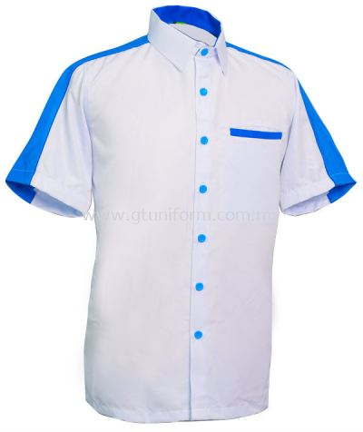 READY MADE UNIFORM M0205 (White & Blue & R.Blue)