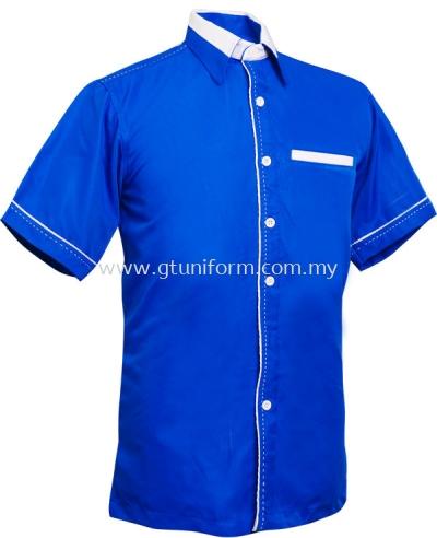 READY MADE UNIFORM M0305 (R.Blue & White)