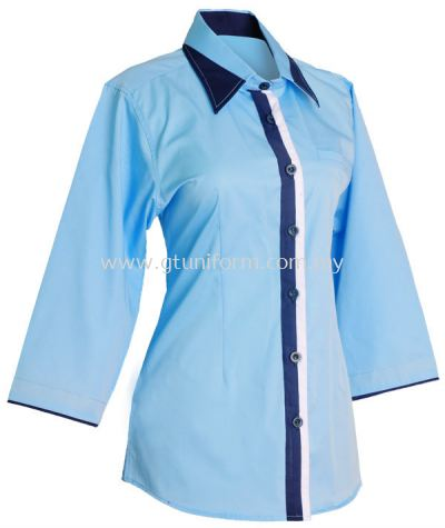 READY MADE UNIFORM F0717 (L.Blue & Navy & White)