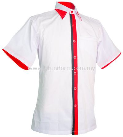 READY MADE UNIFORM M0712 (White & Red & Black)