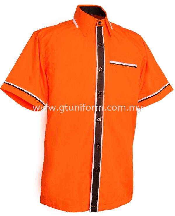 READY MADE UNIFORM M0802 (Orange Black & white)