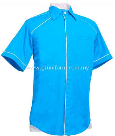 READY MADE UNIFORM M1009 (T.Blue & White)