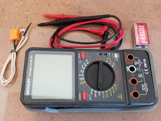 Automotive DMM Meter with Data-hold function ID998859