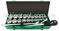 "3/4"" DR. 12PT Flank Socket Set (METRIC & SAE) Hand Sockets, Bit Sockets and Accessories TOPTUL Hand Tool"