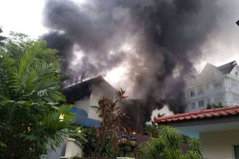 FIRE BREAKS OUT AT BUKIT TIMAH PRESCHOOL (17/5/16)
