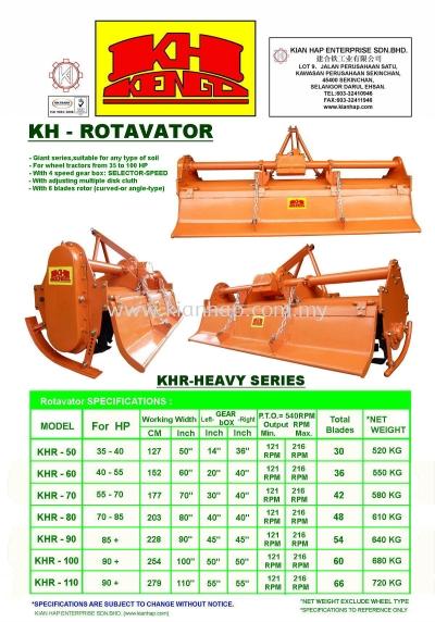KHR-Heavy Series (Rotavator)