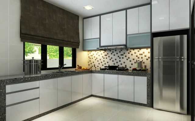 Grey color Bolders with mossaic wall
