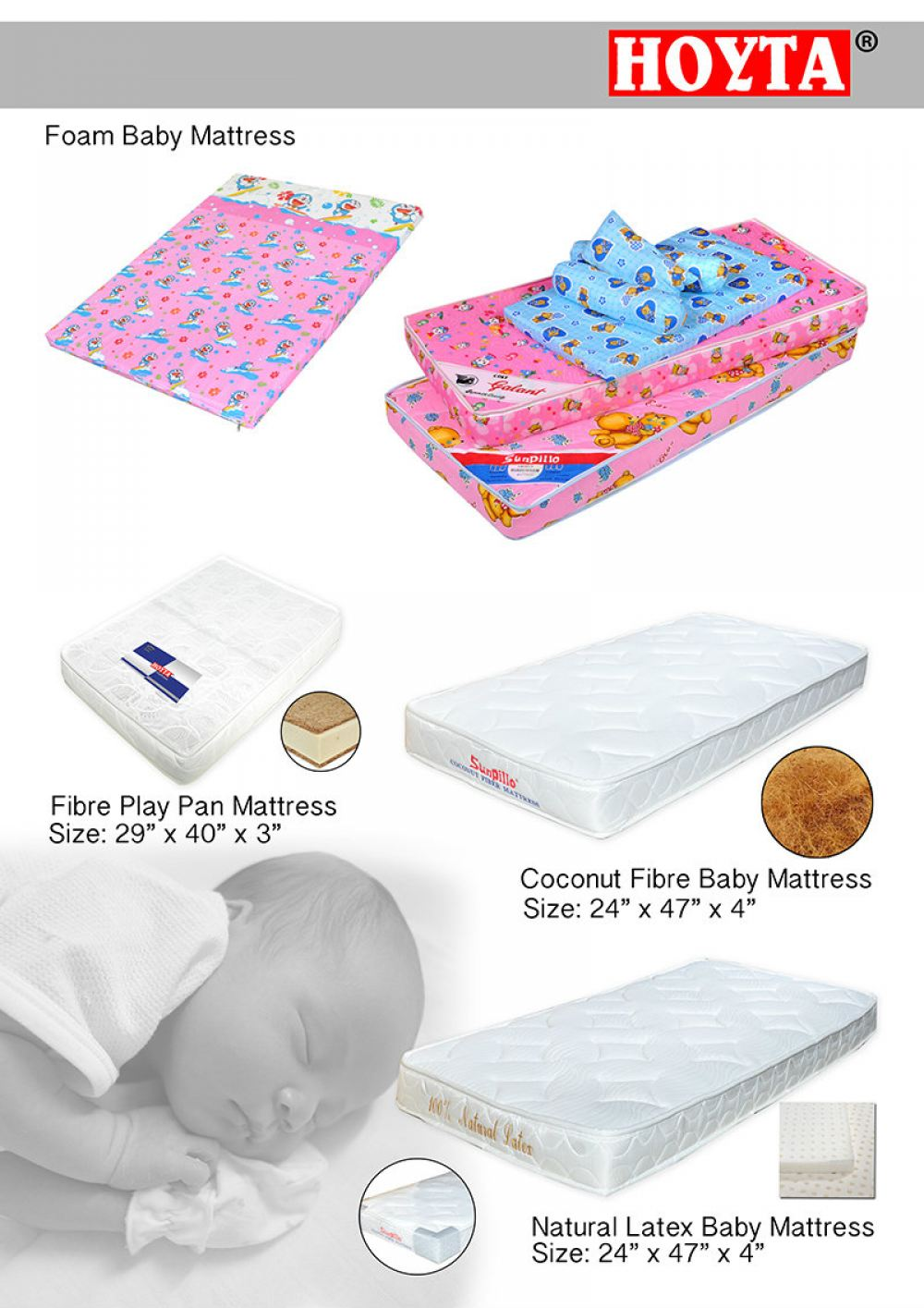 Baby Mattress Baby Products Penang, Malaysia, Butterworth Manufacturer, Supplier, Supply, Supplies | Hoyta Sdn Bhd