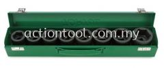 """3/4"""" DR. 6PT Flank Impact Socket Set  Impact Sockets, Bit Sockets, Accessories and Air Wrench TOPTUL Hand Tool"""