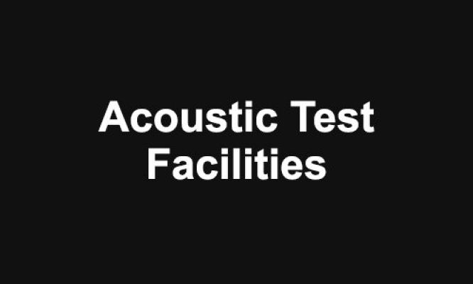 Acoustic Test Facilities
