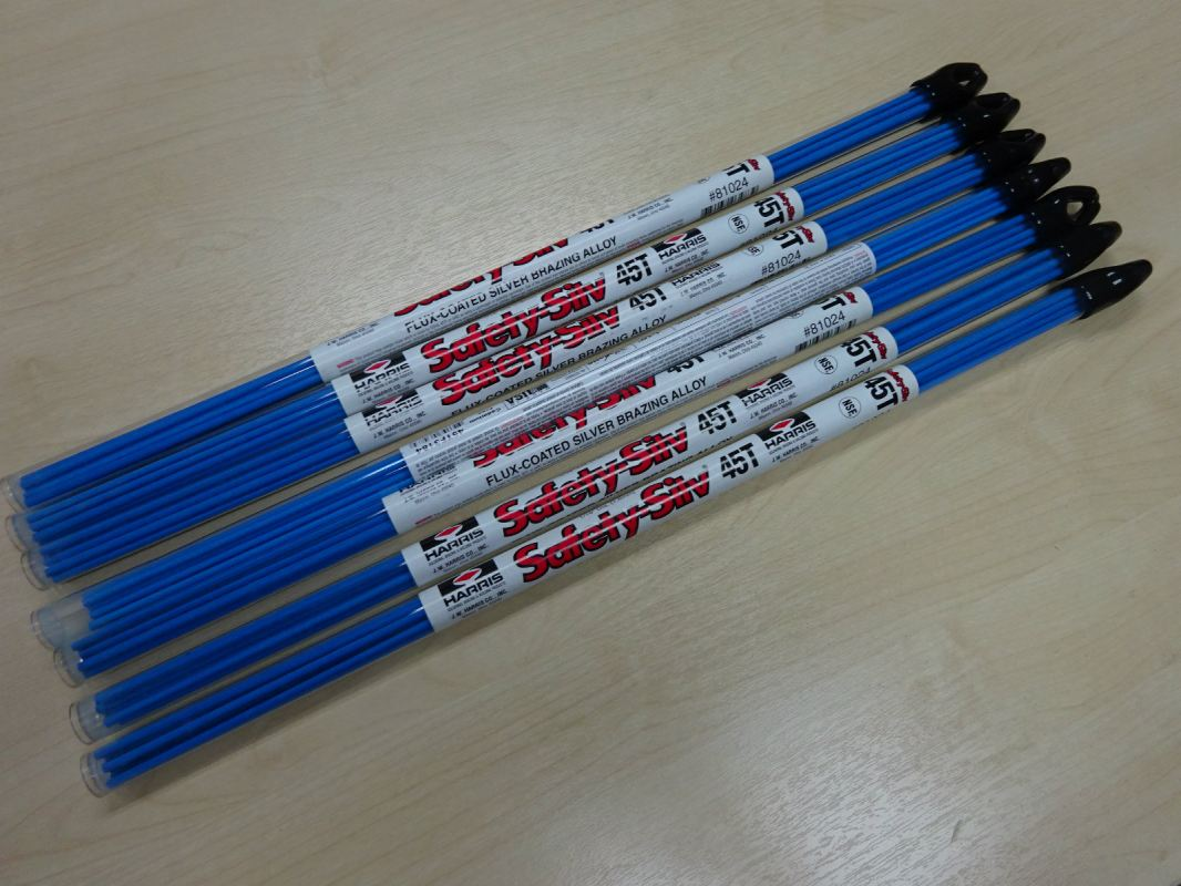 """HARRIS SAFETY-SILV 45T FLUX-COATED SILVER BRAZING ALLOY (9PCS/TUBE-113G) 1/16"""" DIA (1.6MM) Harris Brazing Alloys and Fluxes Subang Jaya, Selangor, Kuala Lumpur (KL), Malaysia. Supplier, Supplies, Manufacturer, Wholesaler   Culmi Air-Cond & Refrigeration Parts Supply Sdn Bhd"""