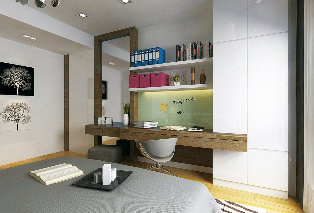 Combination In Between Dressing Table With Study Table..looks Awesome Master Bedroom Modern