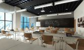 Classroom with Industrial design Modern Industrial interior design proposed to College & University in Subang, Malaysia.