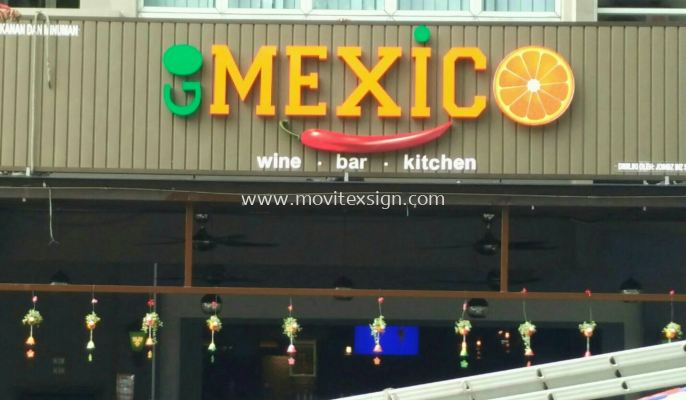 3D signage lighting will provide you with a quality and professional image suitable for bar and restaurant (click for more detail)