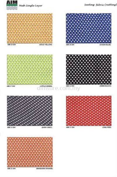 Mesh Collection chart for netting chair