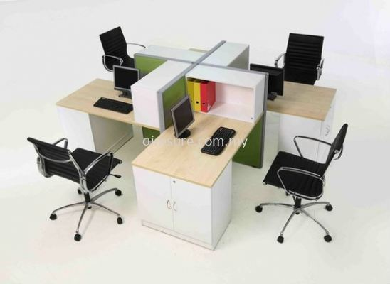 4 Seater Office Workstation System (AIM60-C4-5-NS)