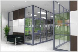 Flexible Full Height Glass Wall Partition 1