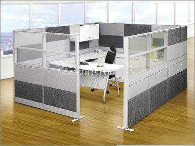 4 wall Office Workstation System (AIM-C1-1L-EPO-TS)
