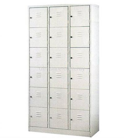 18 Compartment Steel Locker (AIM15B)