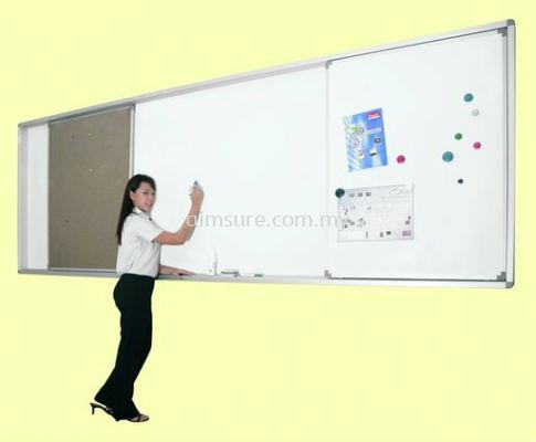 Sliding White Board and Notice Board