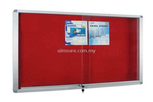 Velvet Notice Boad with Aluminium Frame Cabinet