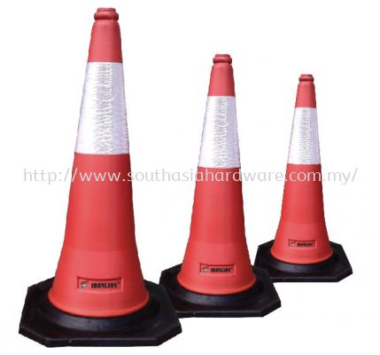 """30"""" Safety cone with reflective tape"""