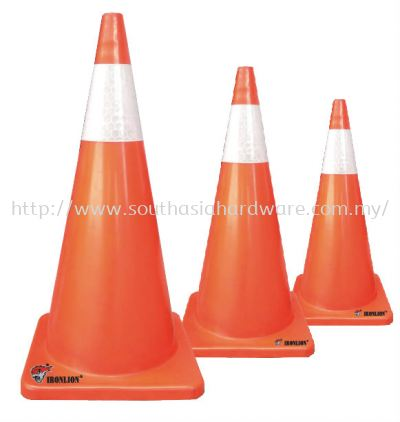"30"" PVC Safety cone with reflective tape"